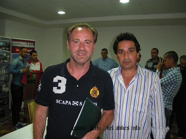 المدرب برفقة مراسل فتحي