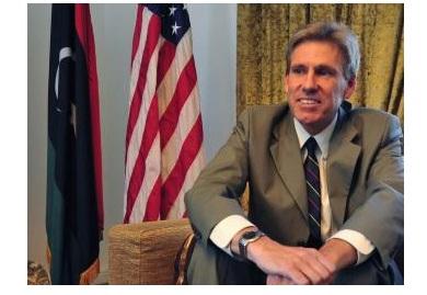 L'ambassadeur américain Christopher Stevens, à son domicile à Tripoli, le 28 juin 2012.
