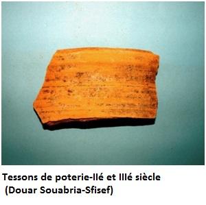Tessons de poterie-IIé et IIIé siècle  (Douar Souabria-Sfisef)