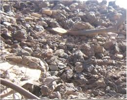 Tan Affela: Des roches, des métaux  contaminés encore dans la nature.