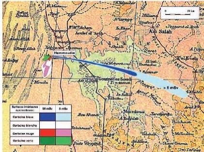 Carte du site Reggane-Hammoudia