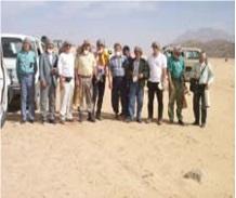 Equipe de l'AIEA accompagnée de l'équipe des Chercheurs du COMENA (1999)