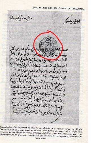 lettre mostefa ben brahim