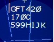 Signal indiquant un détournement (Hijack) reçu sur les écrans radar des centre de controle.