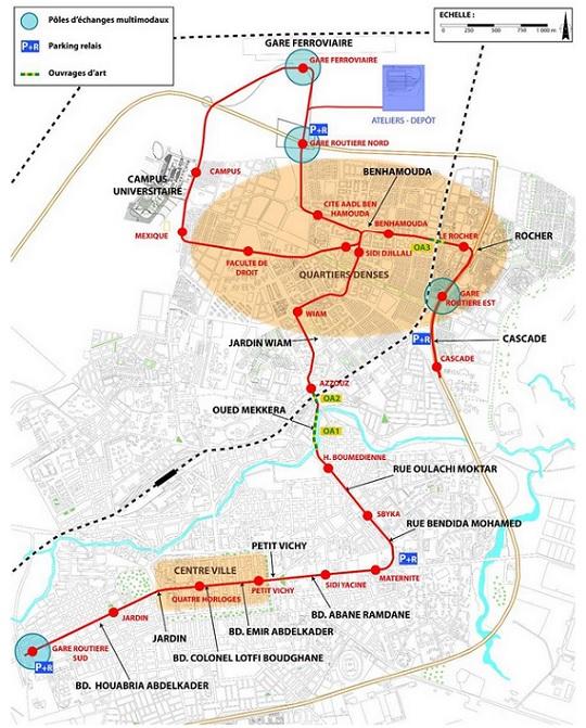 tracé tramway de sidi bel abbes